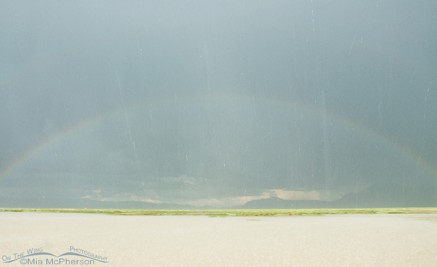 Red Rock Lakes NWR rainbow after a storm