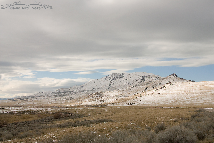 Antelope Island State Park with snow