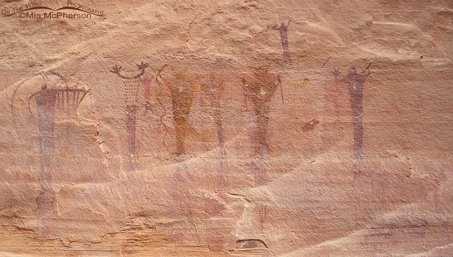 Pictographs with pecked holes, San Rafael Swell, Utah