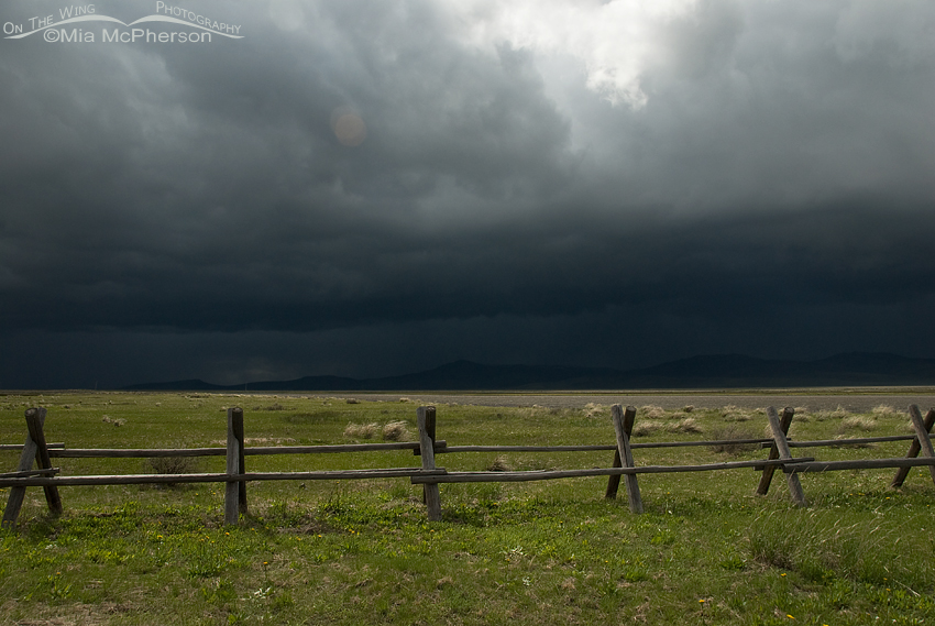 Stormy sky looking east from the campground at Red Rock Lakes National Wildlife Refuge