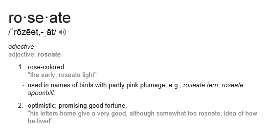 roseate-definition