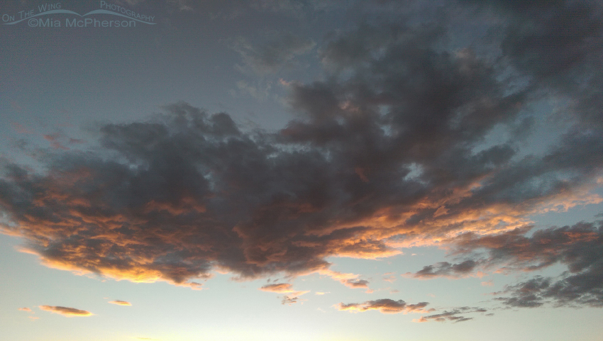 The setting sun on the clouds over Gunlock State Park II