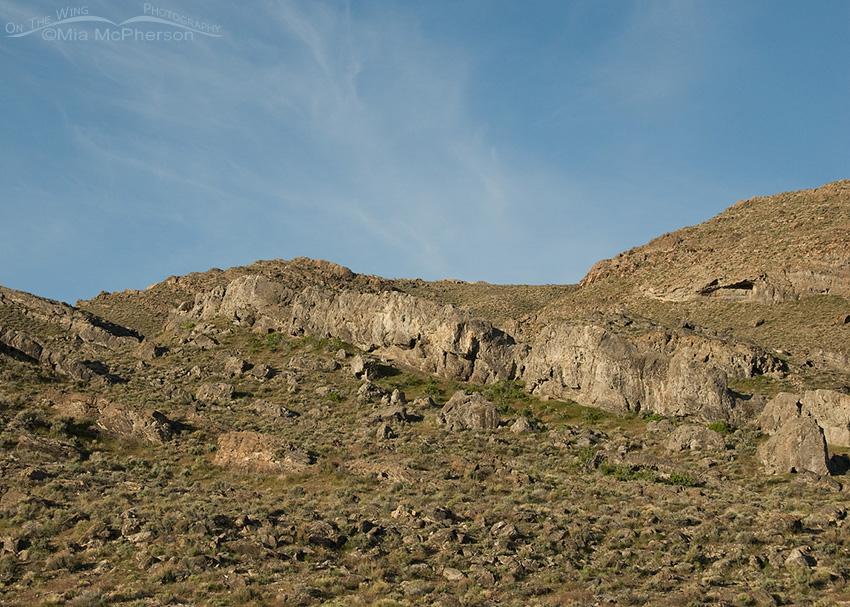 Rocky hillside in the West Desert of Utah